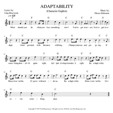 adaptability (2019 song) sheet music